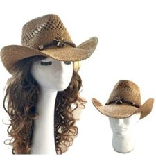 Cowboy Western Rodeo Ranch Concert Straw Vented Sombrero Unisex Hat