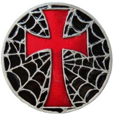 Crusaders Spider Web Gothic Iron Red Cross Belt Buckles