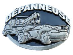 Depanneuse French Tow Truck Vehicle Operator Towing Belt Buckle Boucle Ceinture Belts