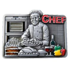 Gourmet Chef Profession Belt Buckle Food Cook Sous Chefs Professions Culinary Belts Buckles