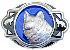 GREY LONE WOLF WESTERN NATIVE INDIANS PEWTER BELT BUCKLE WOLVES BELTS BUCKLES