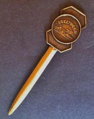 HOLLYWOOD HILLS STARS CA USA STATES SOUVENIR BRASS OFFICE LETTER OPENER GIFTS
