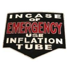 In Case Emergency Use Inflation Tube XXX Belt Buckle