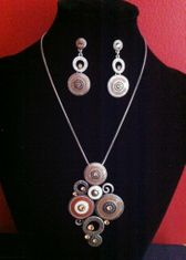 LADIES FASHION JEWELRY NECKLACE EARRING PENDANT SEXY COLLIER BOUCLE D'OREILLE