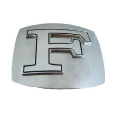 LETTER INITIAL F CHROME NAME BELT BUCKLE BELTS BUCKLES