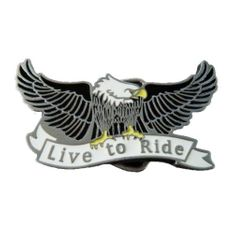 LIVE TO RIDE BALD FLYING EAGLE NEW COOL BELT BUCKLE BELTS BUCKLES BOUCLE AIGLE