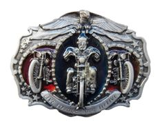 Motorcycles Live To Ride Chopper Eagle Belt Buckles