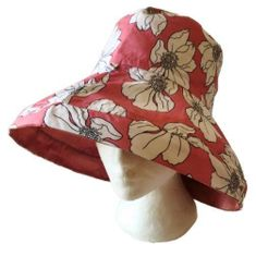 Pink Sun Wide Brim UV Protection Women Summer Floral Foldable Bucket Hats