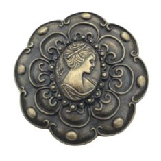 Cameo Lady Woman Belt Buckle Buckles