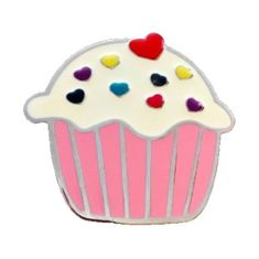 Cupcake Cup Cake White Cream Frosting Muffin Cherry Red Heart Belt Buckle