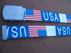 QUICK RELEASE BUCKLE HIP HOP USA FLAG NYC DISCO JEANS BELT