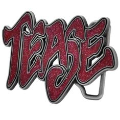 TEASE RED SIGN SPARKLING SEXY BOYS GIRLS COOL TATTOO STYLE BELT BUCKLE