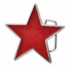Stars Red Star China Chinese Socialism Communist Party Signs Symbols Belt Buckle Buckles