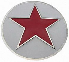 RED STAR CHINA CHINESE SOCIALISM COMMUNIST PARTY BUCKLE