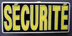 SECURITE FRENCH POLICE PATROL GUARD PROTECT YELLOW QUALITY BELT BUCKLE BUCKLES