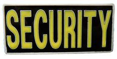 SECURITY MALL POLICE PATROL GUARD PROTECT YELLOW QUALITY BELT BUCKLE BUCKLES