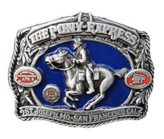 SOUTHERN PONY EXPRESS HORSE MAIL WESTERN 3D SAN FRANCISCO BELT BUCKLE