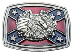 Southern Rebel Eagle CSA Flag Belt Buckle Confederate Army Stars Flags Belts Buckles