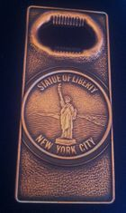 STATUE OF LIBERTY NEW YORK CITY SOUVENIR BOTTLE OPENER OUVRE BOUTEILLE