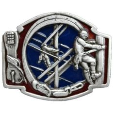 Telephone Line Cable Guy Pole Climber Tools Belt Buckle