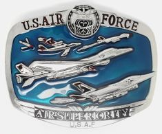 U.S. AIR FORCE ARMY MILITARY FIGHTER JET PLANES BELT BUCKLE