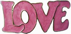 Vintage Love Pink Rodeo Cowgirl Hippy Gift Belt Buckle Girly Buckles
