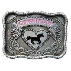 WESTERN FLORAL FLOWERS COWGIRL UP COOL RODEO HORSE BELT BUCKLE BUCKLES