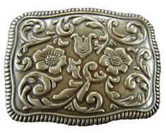 Western Style Cowgirl Ranch Rodeo Flower Belt Buckle Buckles