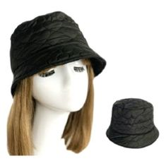 Women Soft Warm Winter Quilted Bucket Hat Foldable Crushable New