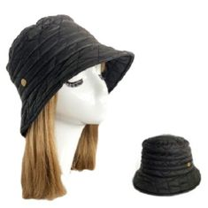 Women Soft Warm Winter Quilted Bucket Hats Foldable Cap