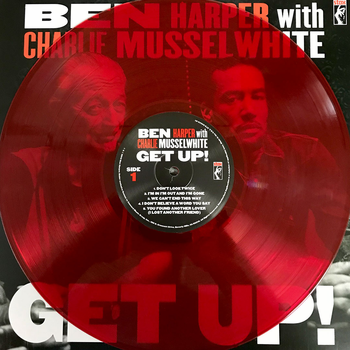 Ben Harper with Charlie Musselwhite - Get Up! (Limited Edition Translucent Red 180 gram vinyl)