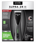 Andis 79005 Supra ZR II Cordless Detachable Blade Clipper with Removable Battery