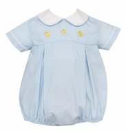 Anavini Baby Boys Blue Bubble - Yellow Ducks - White Collar
