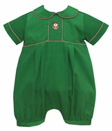 Anavini Baby Boys Green Corduroy Santa Claus Bubble