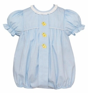 Anavini Baby Girls Blue Bubble - Yellow Ducks - Ruffle Collar