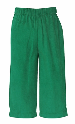 Anavini Baby / Toddler Boys Corduroy Pull On Pants - Green