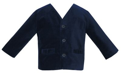 Anavini Baby / Toddler Boys Eton Style Jacket - Blue Velvet