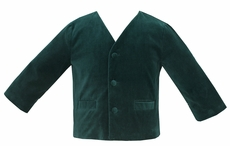 Anavini Baby / Toddler Boys Eton Style Jacket - Green Velvet
