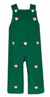 Anavini Baby / Toddler Boys Kelly Green Corduroy Longall - Embroidery Santa Claus