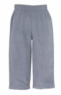 Anavini Baby / Toddler Boys Pull On Pants  - Grey Twill
