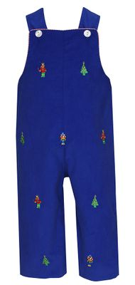 Anavini Baby / Toddler Boys Royal Blue Corduroy Longall - Embroidery Nutcrackers