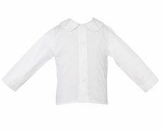 Anavini Baby / Toddler Boys White Shirt - Long Sleeves - Button Front