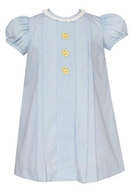 Anavini Baby / Toddler Girls Blue Float Dress - Yellow Ducks