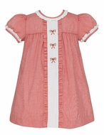 Anavini Baby / Toddler Girls Red Gingham Candy Canes Float Dress