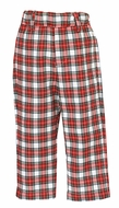 Anavini Couture Boys Red / White Holiday Plaid Tailored Pants