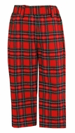 Anavini Boys Tailored Dress Pants - Red / Green Holiday Plaid