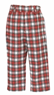Anavini Boys Tailored Dress Pants - Red / White Holiday Plaid