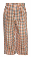 Anavini Boys Orange Fall Plaid Pull On Pants