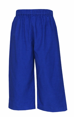 Anavini Toddler Boys Pull On Pants - Corduroy - Royal Blue
