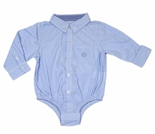 Andy & Evan Baby Boys Classic Oxford Dress Shirt - Blue - Shirtzie Onesie